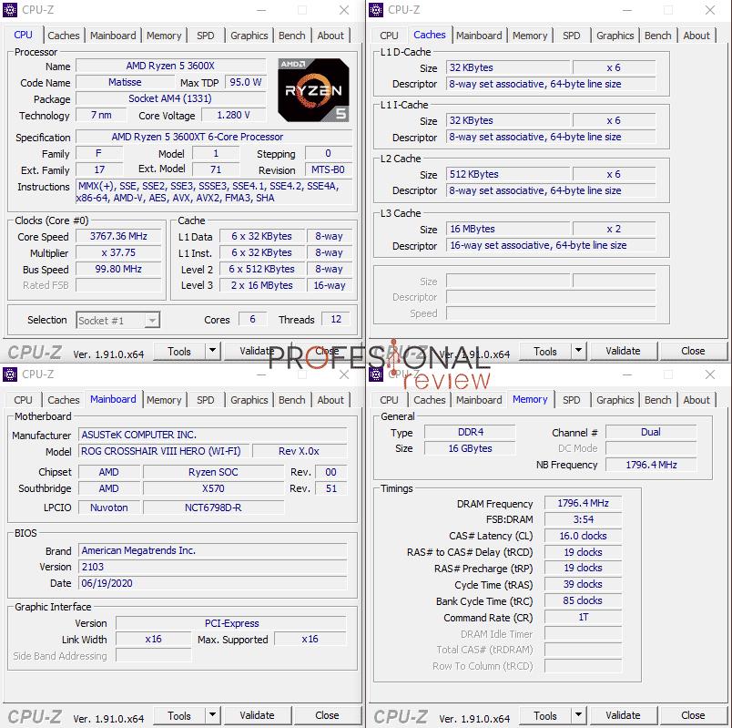 AMD Ryzen 5 3600XT CPU-Z