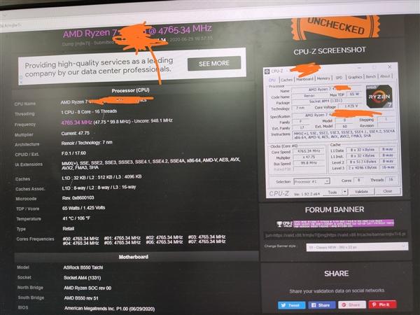 AMD Ryzen 7 4700G overclock