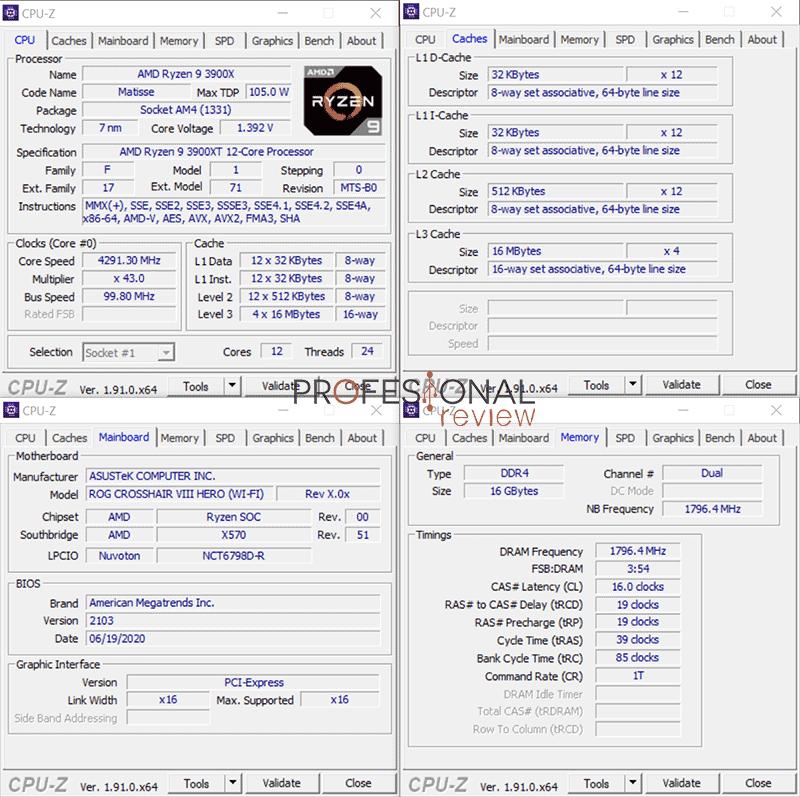 AMD Ryzen 9 3900XT CPU-Z