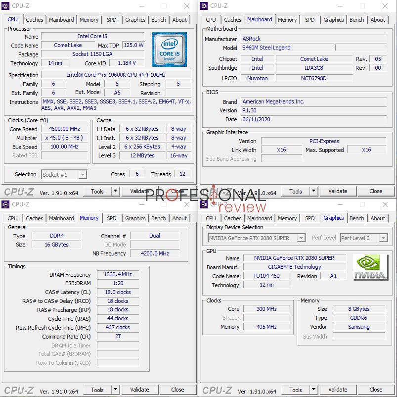 ASRock B460M Steel Legend CPU-Z