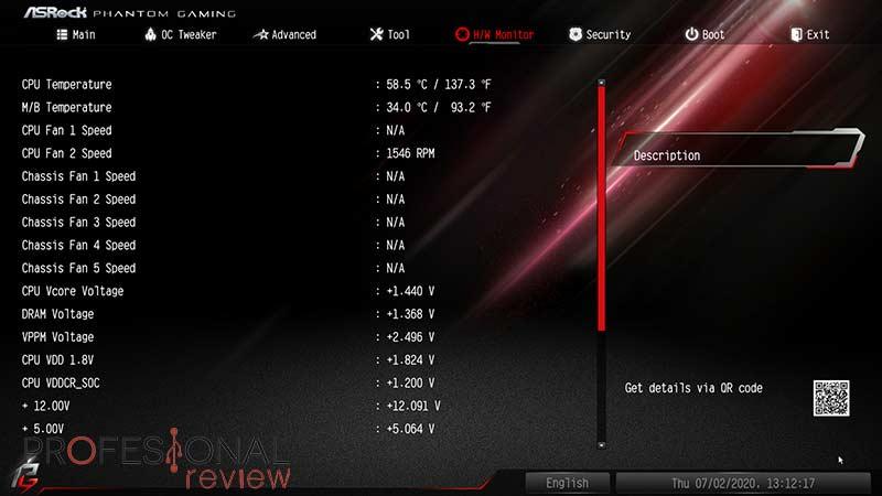 ASRock B550 PG Velocita BIOS
