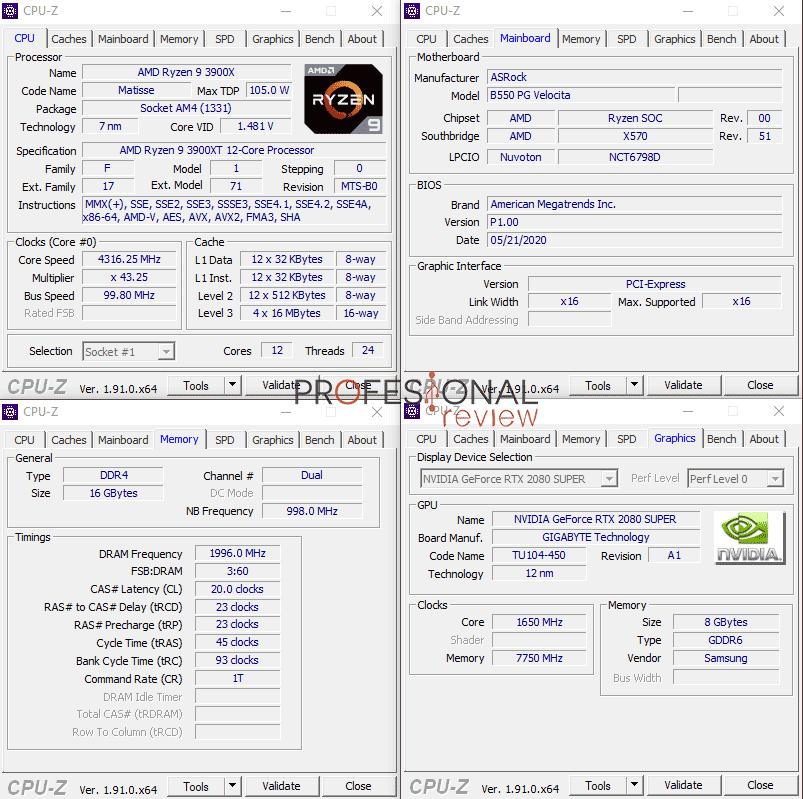 ASRock B550 PG Velocita CPU-Z