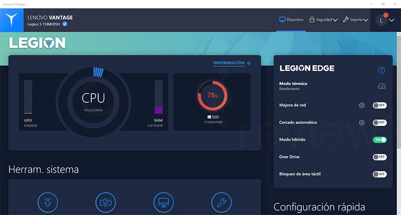 Lenovo Legion 5i Software
