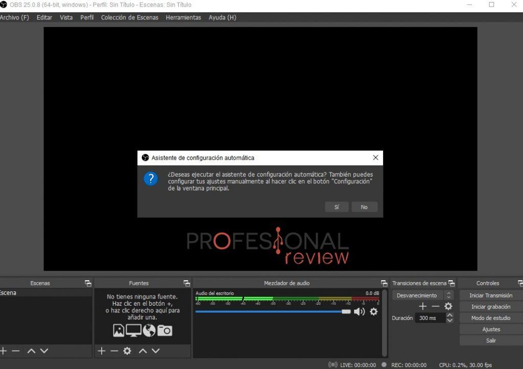 OBS twitch stream