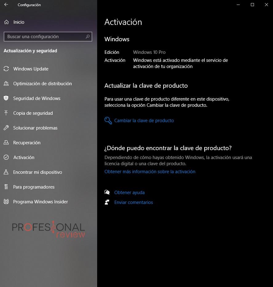 cómo cambiar windows 10 a pro