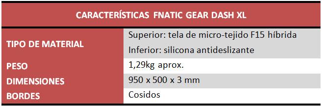 Fnatic Gear Dash L y Dash XL