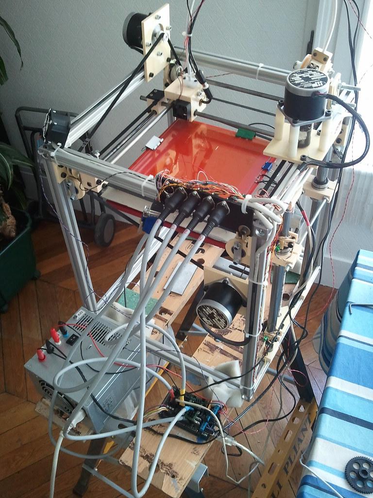 impresora 3D montada casera
