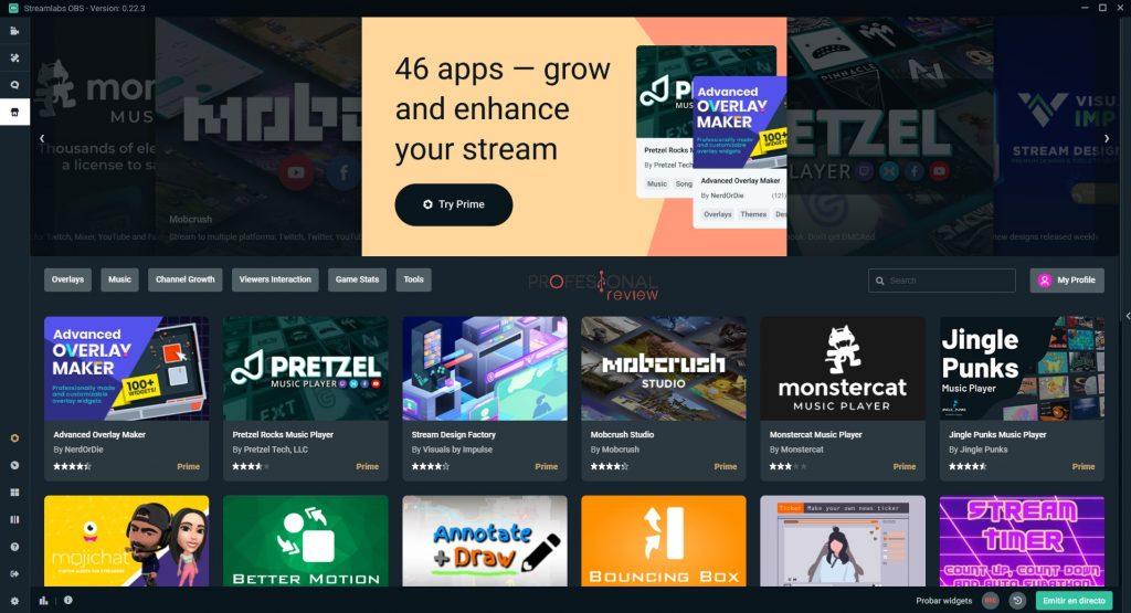 mejores aplicaciones streaming streamlabs