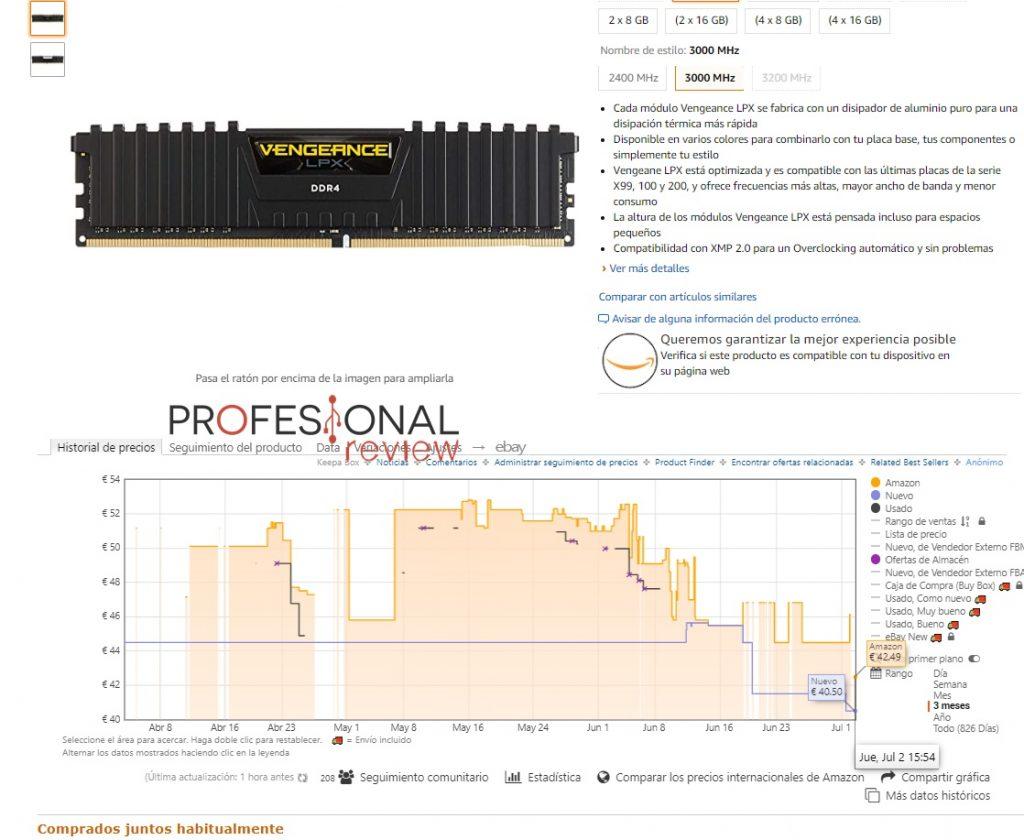 memoria DDR4 baja