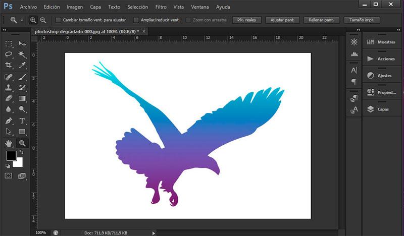 invertir colores en Photoshop