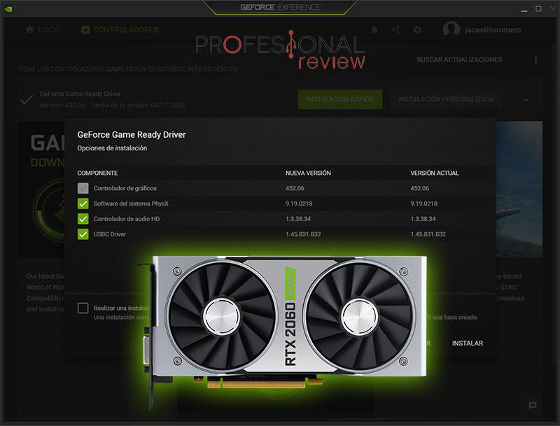 Actualizar driver Nvidia