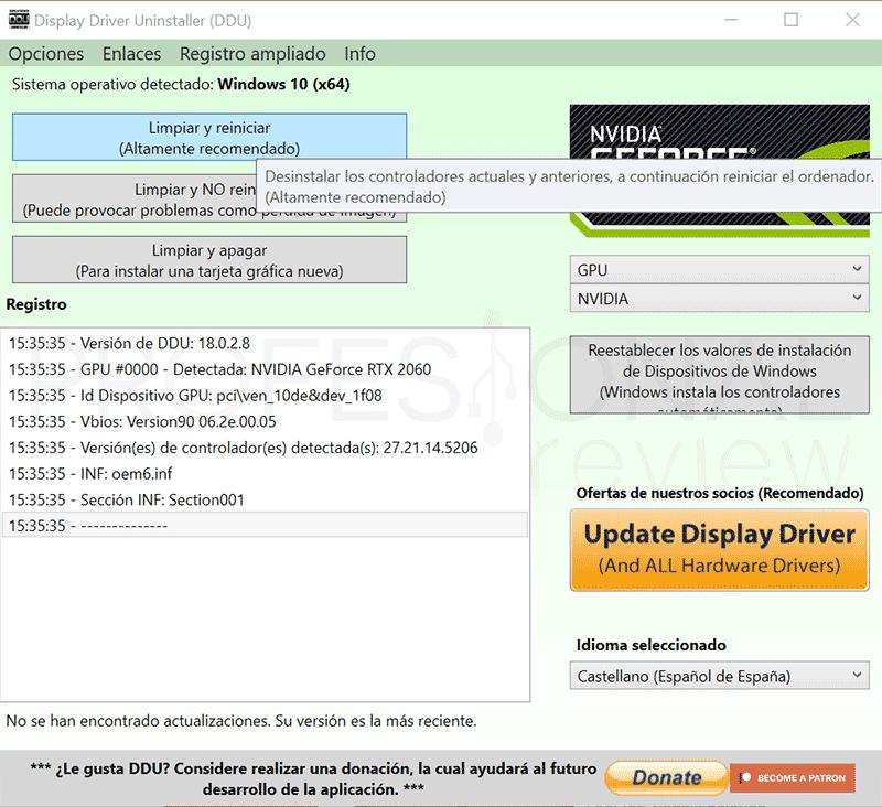 Actualizar driver Nvidia paso16