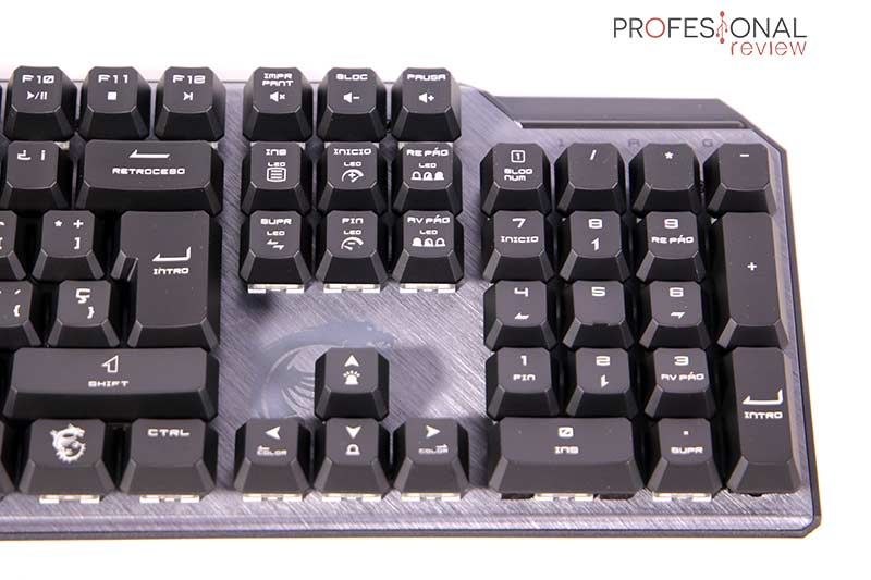 MSI Vigor GK50 Elite keycaps