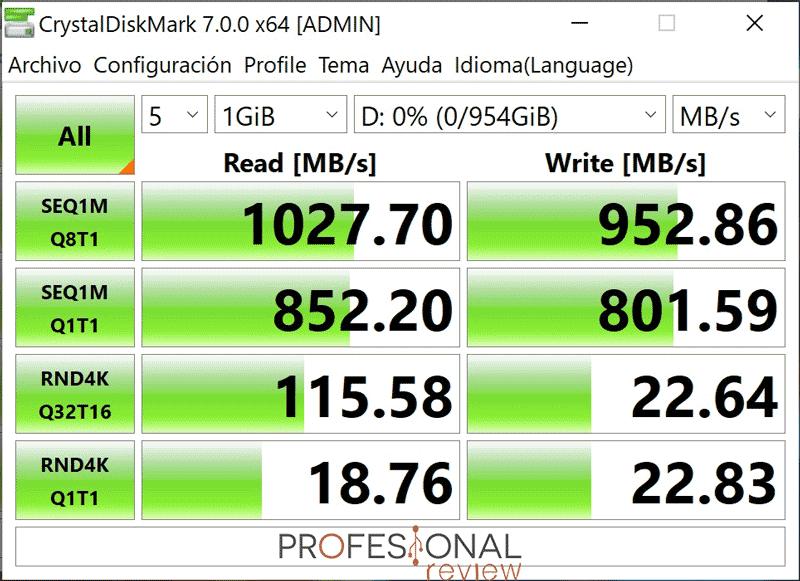 ORICO GV100 Portable NVMe SSD Benchm ark