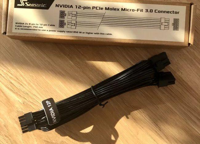 Photo of Seasonic lanzará cables de 12 pines para GPUs Nvidia