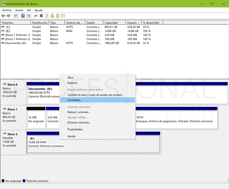 Formatear USB RAW a FAT32 paso05