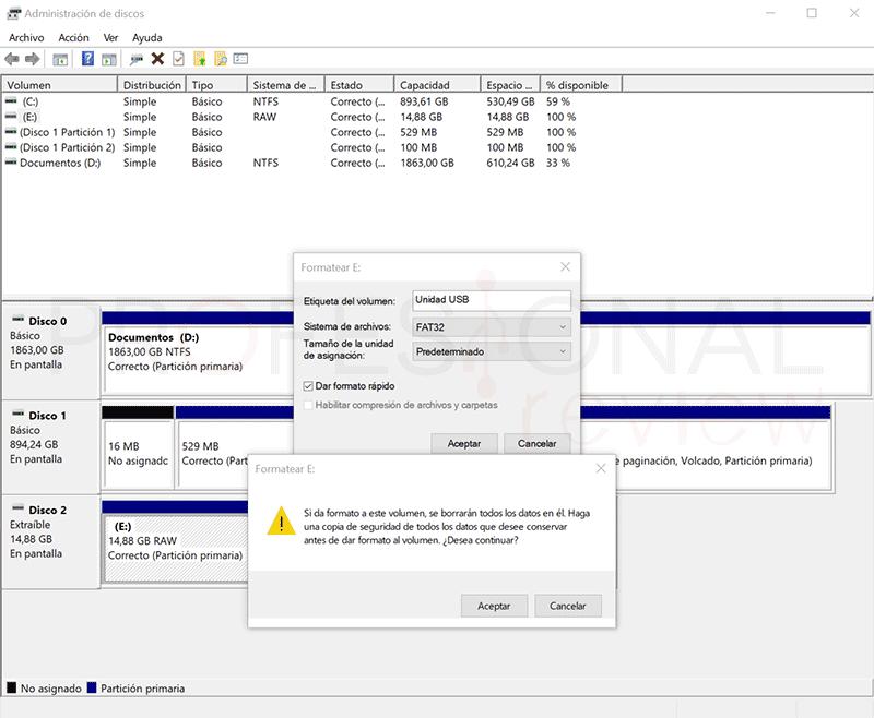 Formatear USB RAW a FAT32 paso06