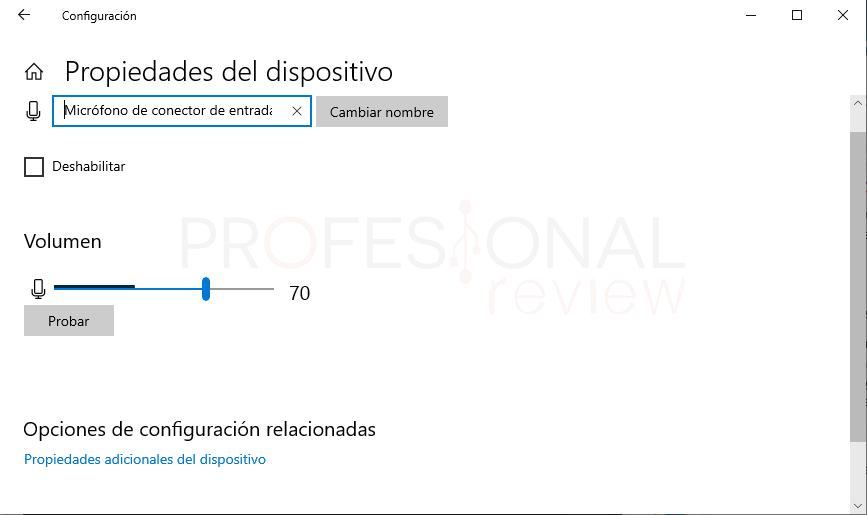 Probar micrófono en Windows 10 paso07