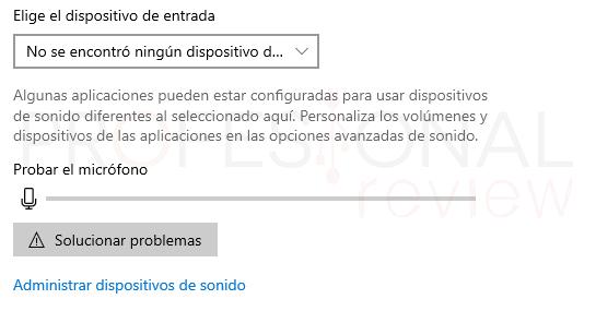 Probar micrófono en Windows 10 paso09