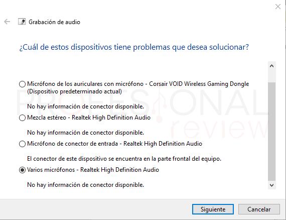 Probar micrófono en Windows 10 paso13
