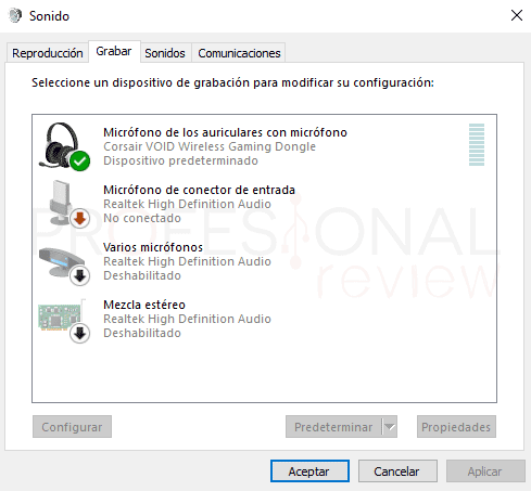 Probar micrófono en Windows 10 paso16