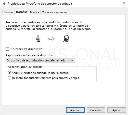 Probar micrófono en Windows 10 paso19