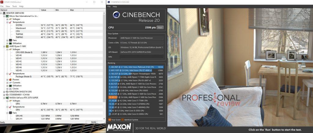 tapa abierta cerrada PC pruebas Cinebench