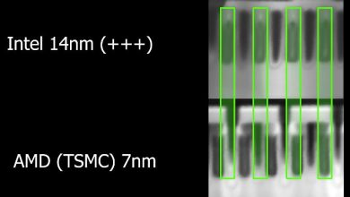 Photo of Ponen los 14nm de Intel y los 7nm de TSMC cara a cara bajo microscopio: ¿menos es mejor?