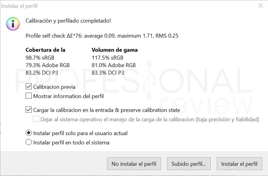 Acer ConceptD CP3 Calibración