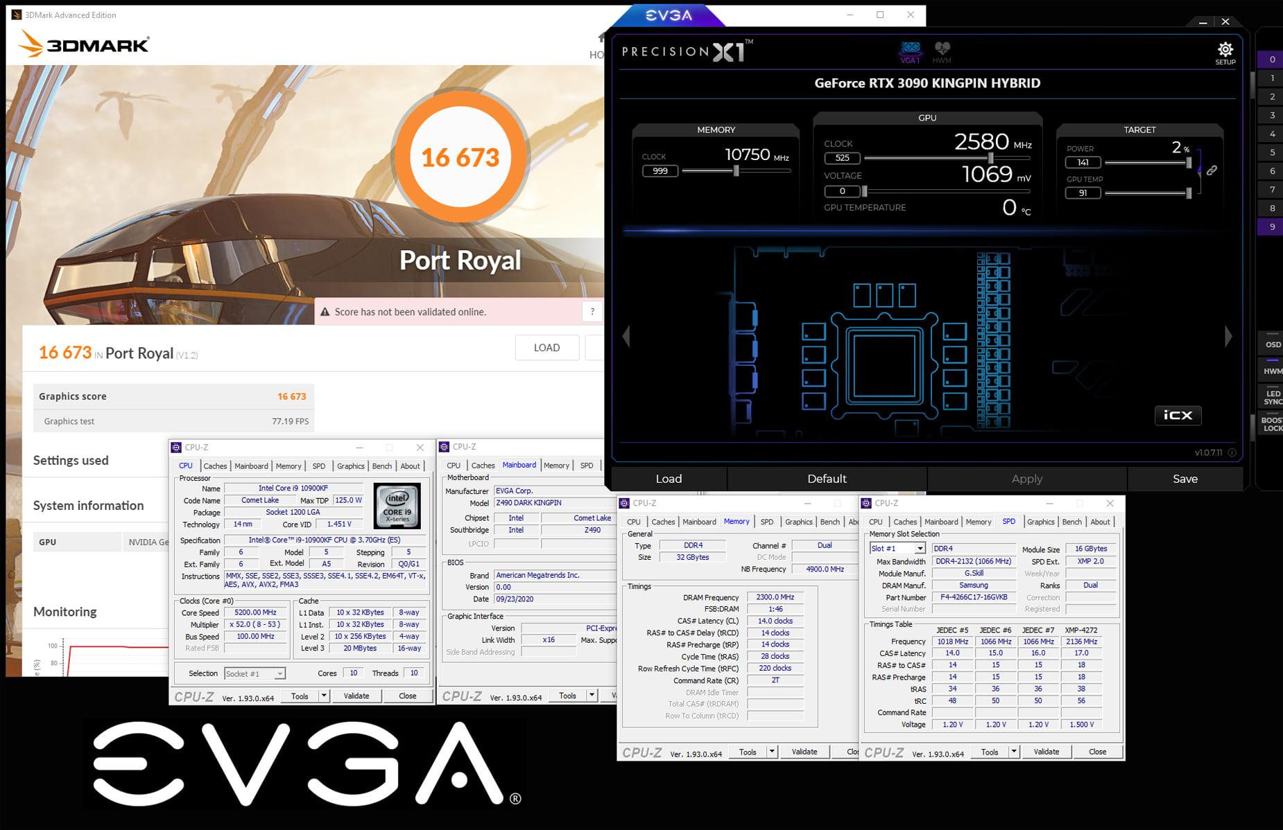 EVGA RTX 3090 K|NGP|N