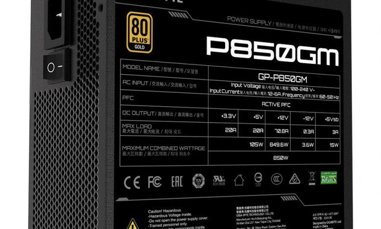 Photo of Gigabyte P850GM y P750GM, presenta la nueva línea PSU 80 Plus Gold