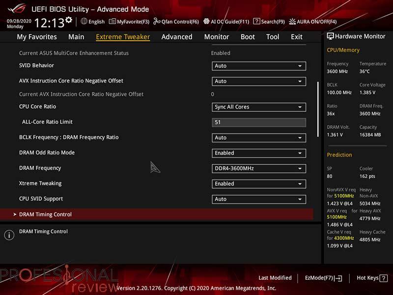 Intel Core i9-10850K Overclocking
