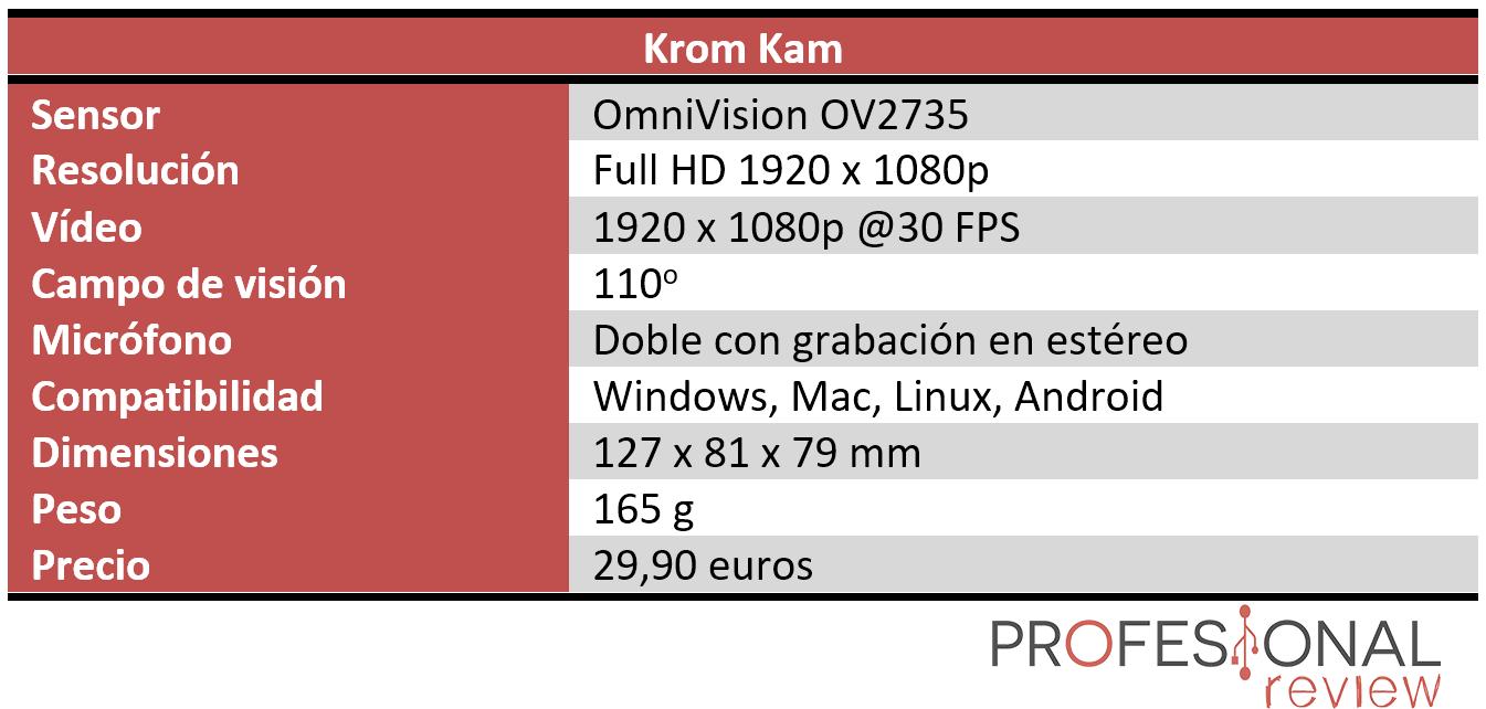 Krom Kam Características