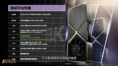 Photo of Nvidia RTX 3090 sería un 10% mas rápida que RTX 3080, según TecLab