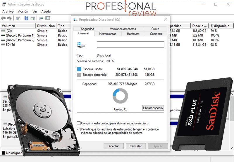 Capacidad del disco duro