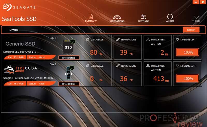 Seagate FireCuda 520 Software