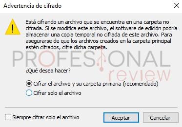 cómo encriptar archivos