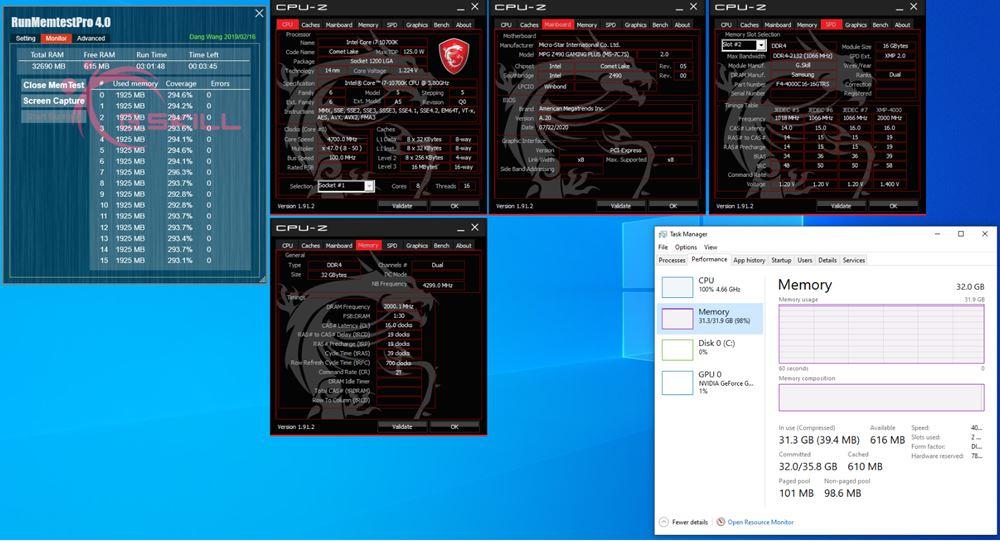 g.skill 4.400 mhz 32 GB pruebas rendimiento
