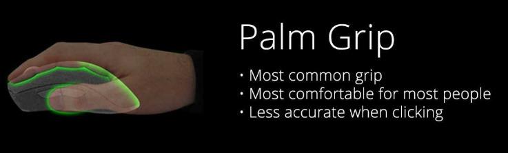 tipos de agarre ratones palm