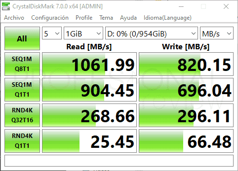 ADATA SE760 SSD Benchmark