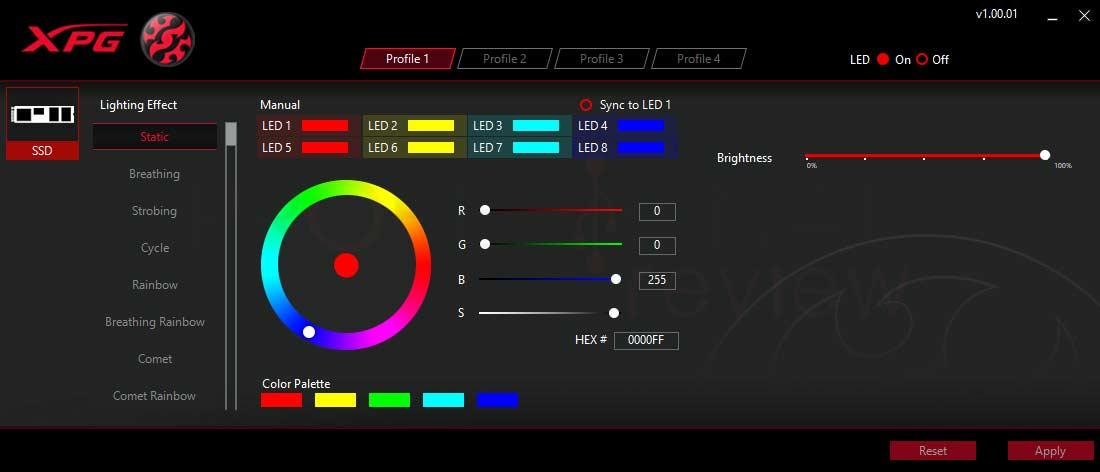 XPG Spectrix S40G 1 TB Software