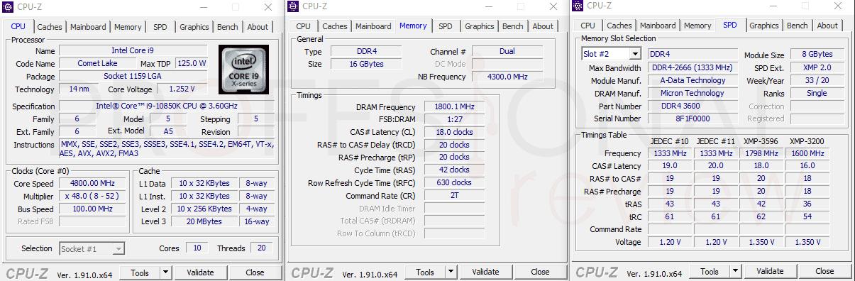 ADATA XPG Spectrix D50 CPU-Z