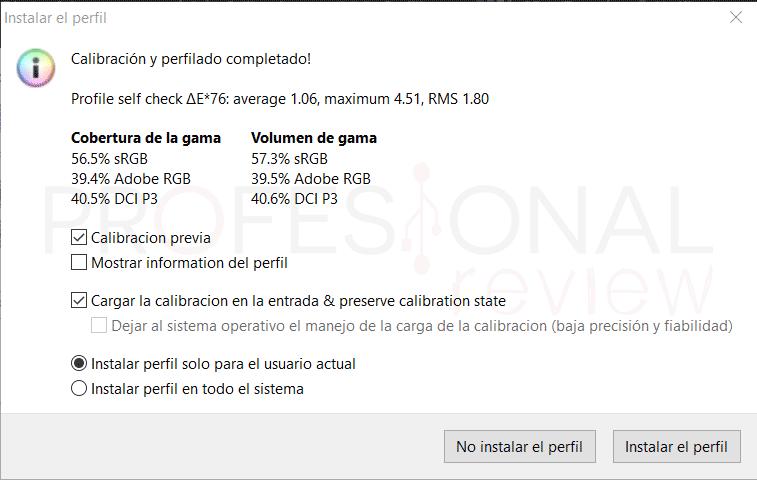Acer Nitro 5 2020 Calibración