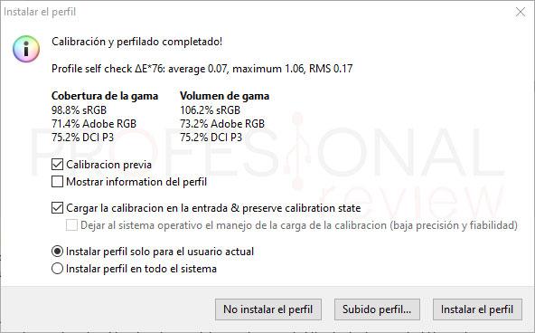 Asus ProArt PA278QV Calibración