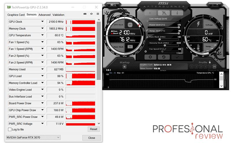 Asus ROG Strix RTX 3070 8G Gaming Overclocking