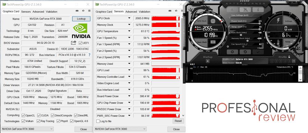 Asus ROG Strix RTX 3080 10G Gaming Overclocking
