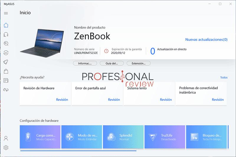 Asus ZenBook 14 UX425EA Software