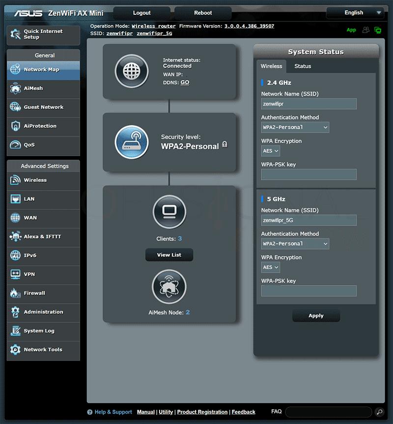 Asus ZenWifi AX Mini Firmware