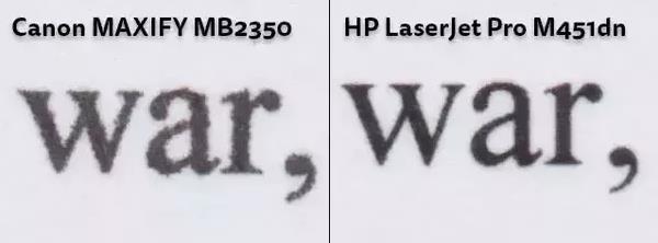 calidad de impresión