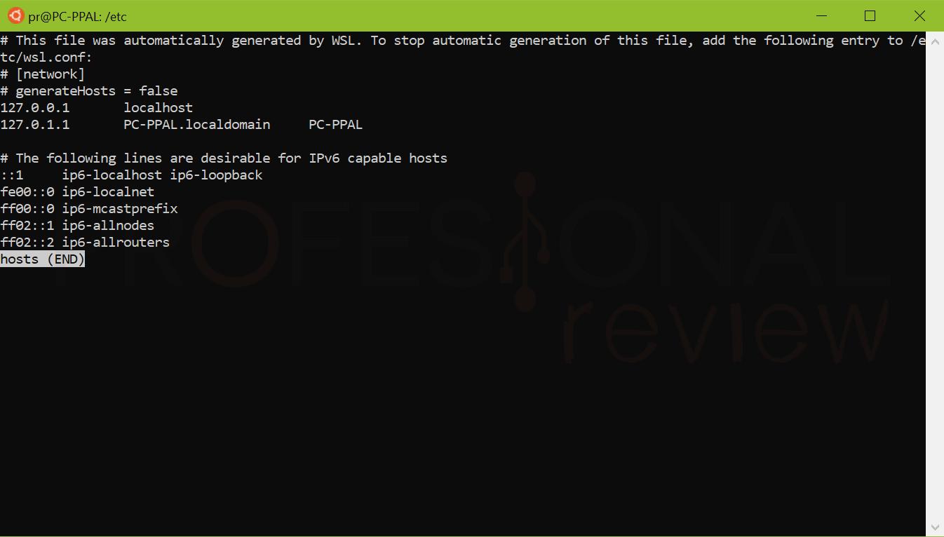 configurar el fichero hosts paso04
